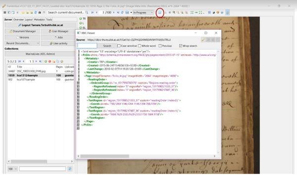 Tools: Collaboration with Transkribus - MarineLives
